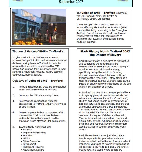 Newsletter 4 – Sept 2007